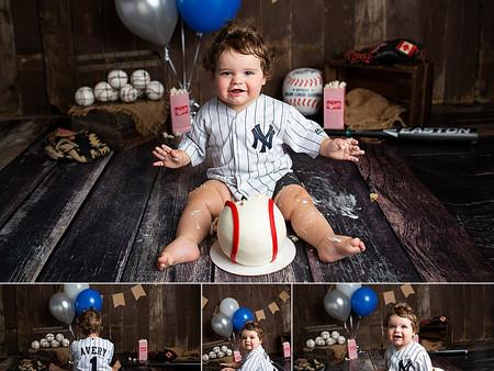 Baseball Cake Smash Theme -  First Birthday