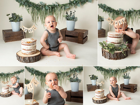 Wyatt's Boho Greenery Cake Smash