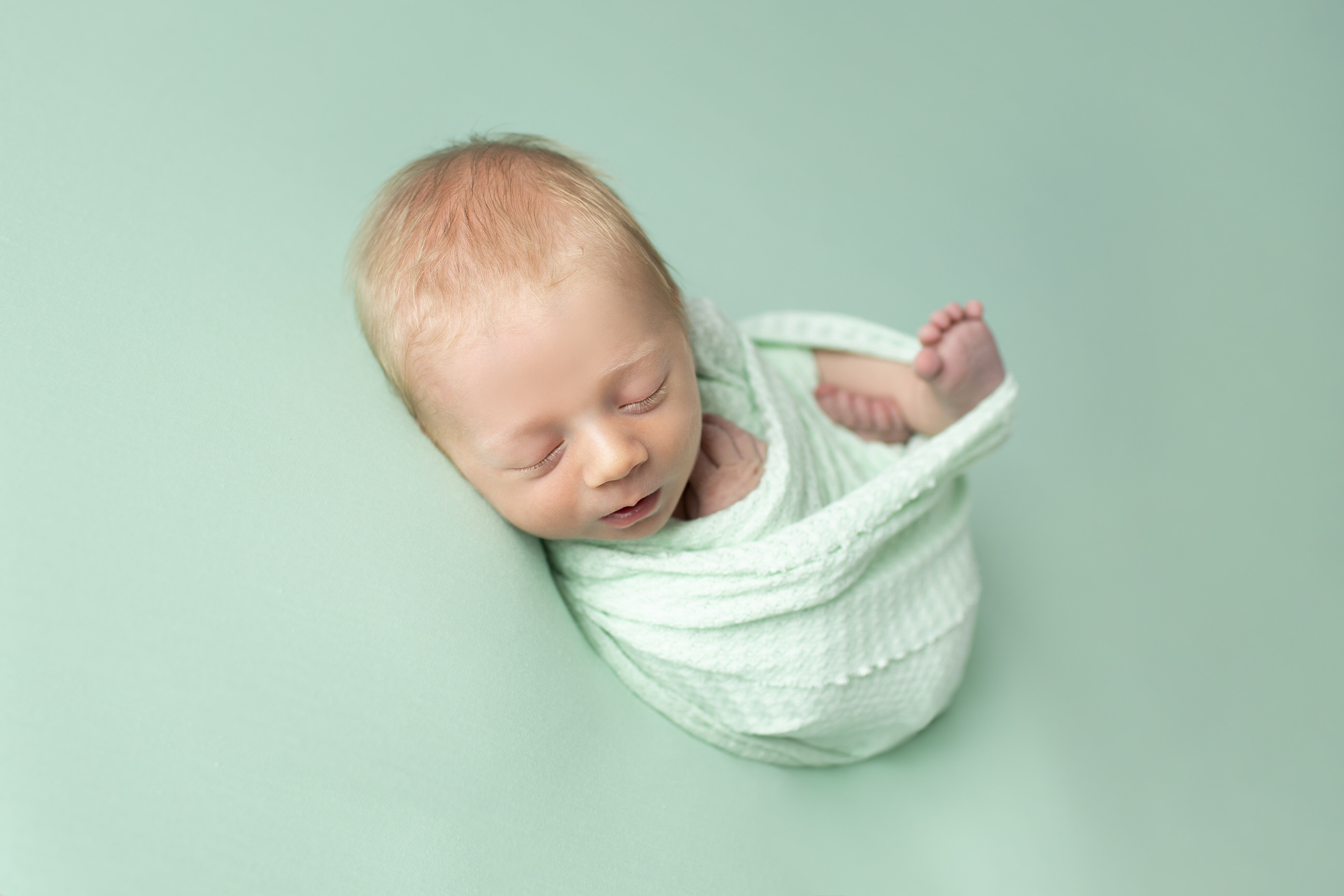 Mint Theme Newborn Session
