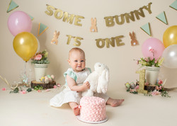 Some Bunny is One Cake Smash
