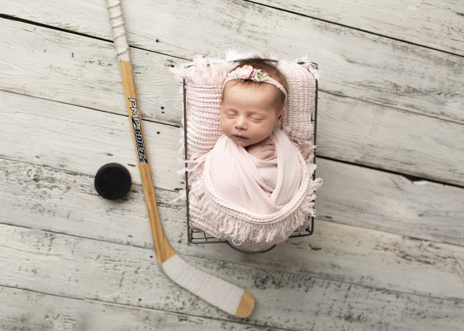Newborn Baby Photography Hockey baby