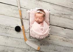 Newborn Baby Photography Hockey baby