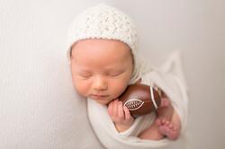 Newborn Photographer Regina Football
