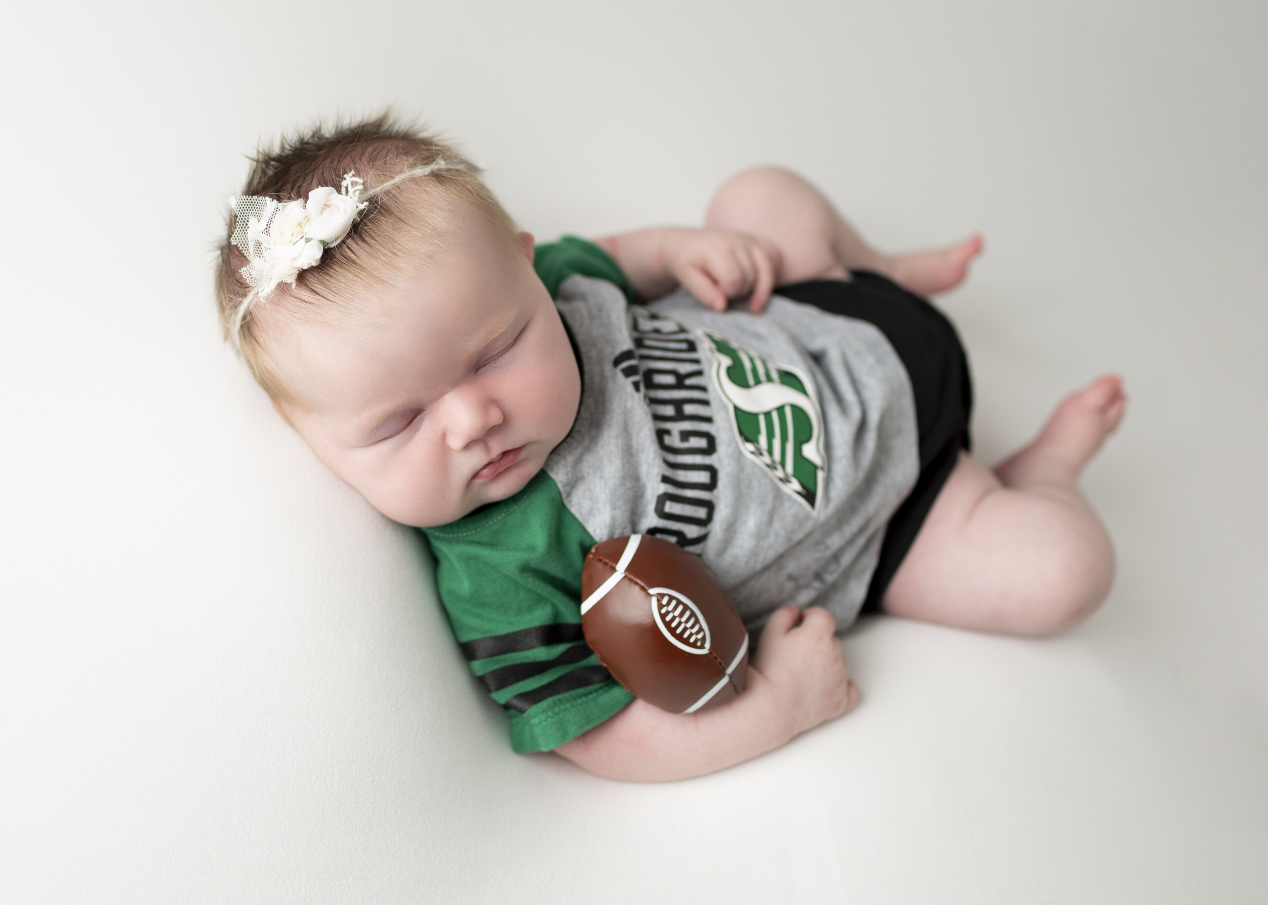 Sask Roughrider Newborn Photos