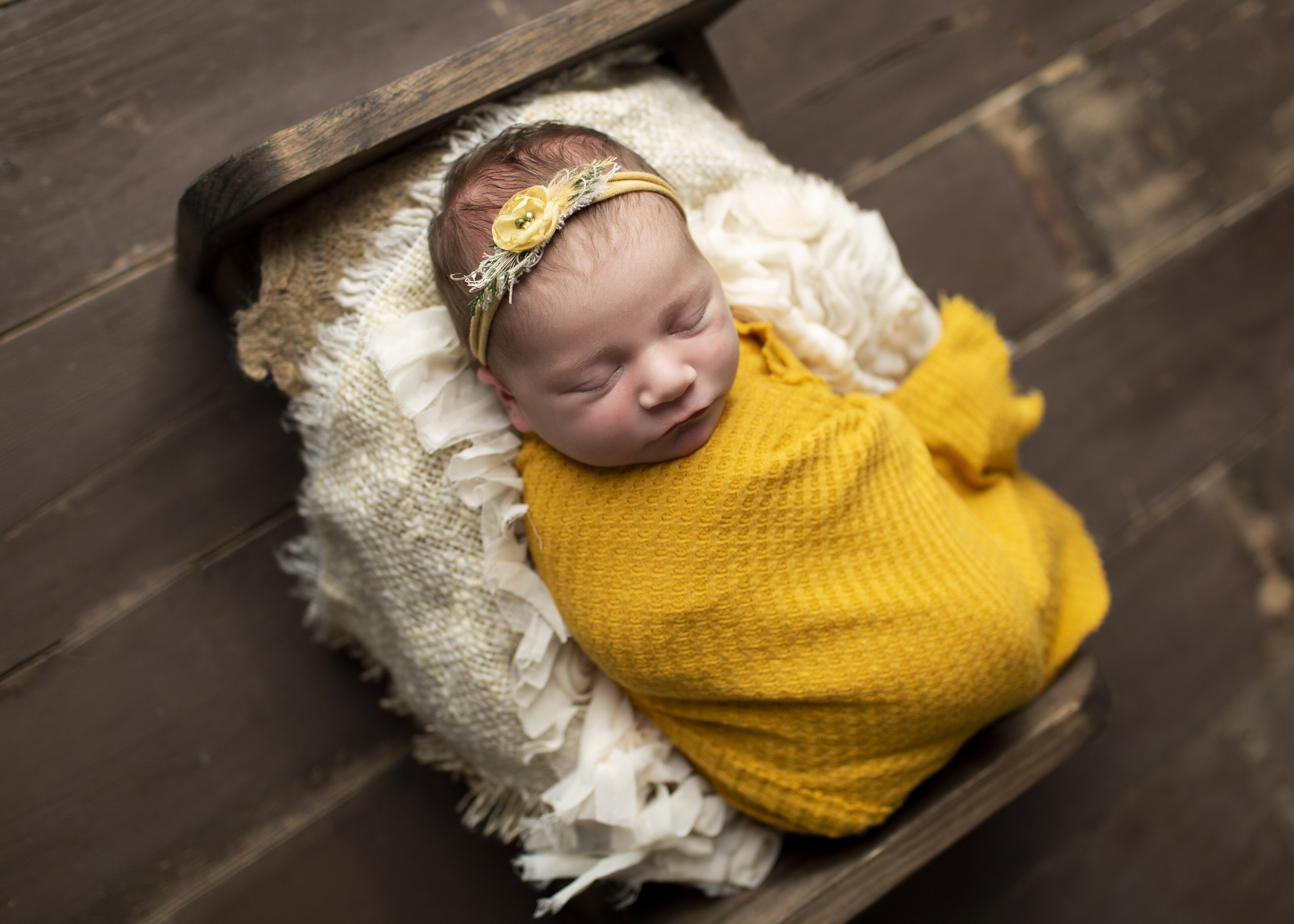 mustard yellow newborn