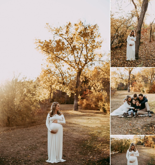 White maternity gown available for your session!