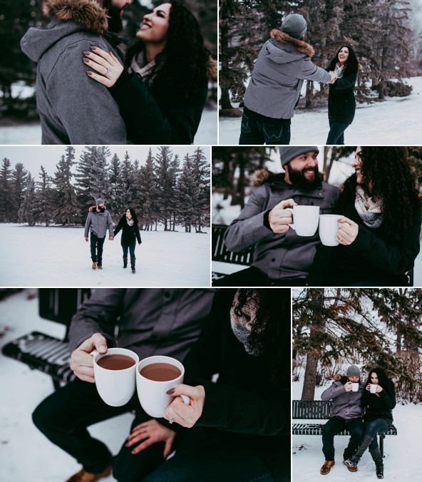 Kayla & Evan's Wintery Engagement Session!