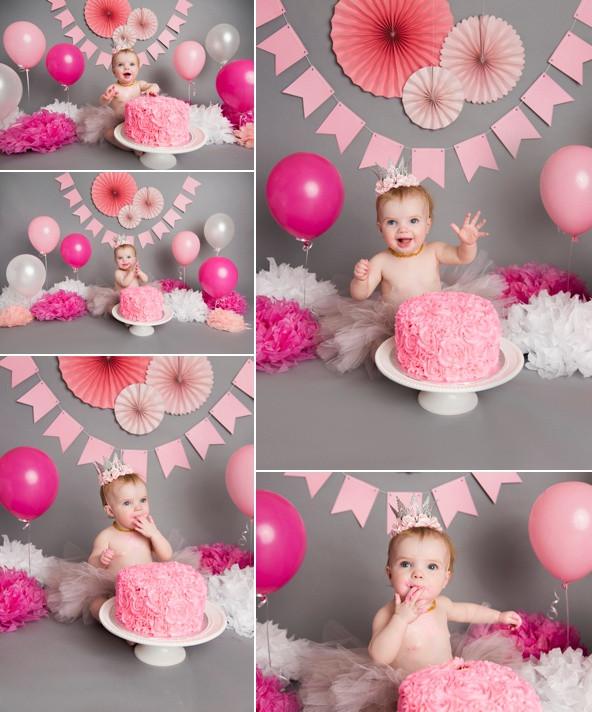 Pink & Grey Cake Smash