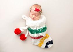 Christmas Newborn Photo Regina