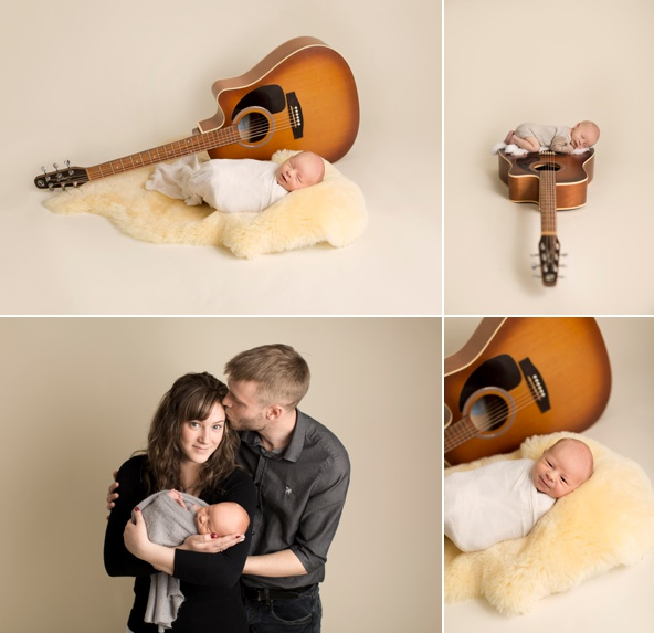Acoustic guitar newborn
