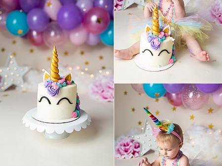 Unicorn Cake Smash!