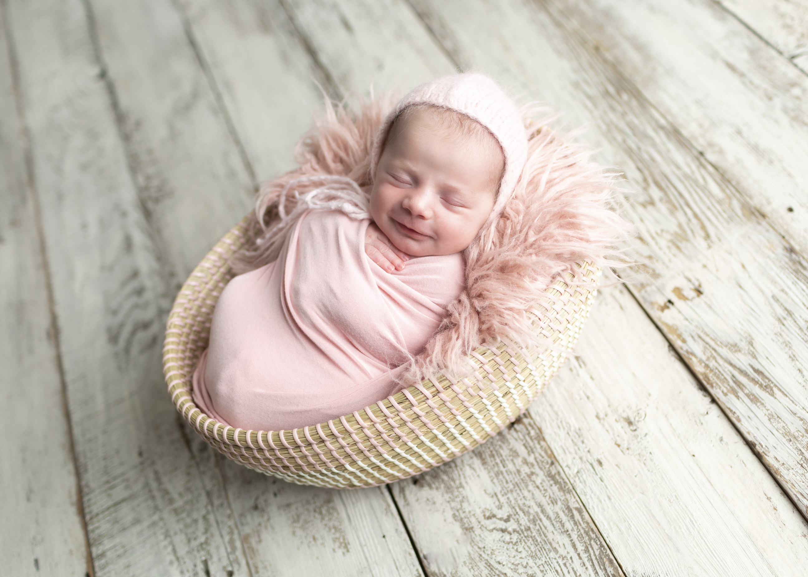 Pink Newborn Photos