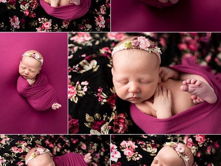 Baby Brielle in Floral Magenta