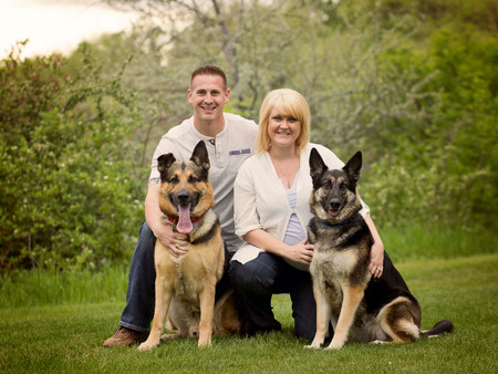 Family photos - pups included!