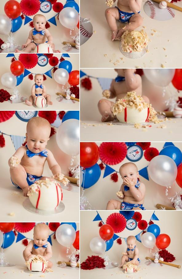 Toronto Blue Jays Baseball Cake Smash