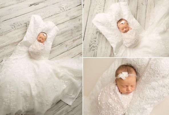 Newborn Photography Wedding Dress