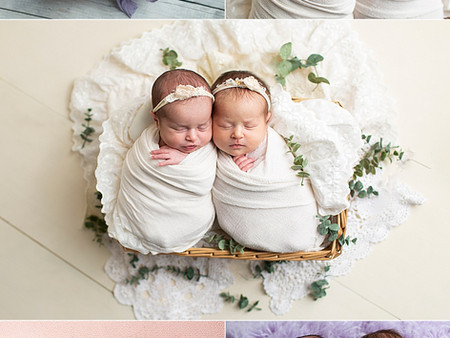 Twin Girls - Regina Newborn Photos