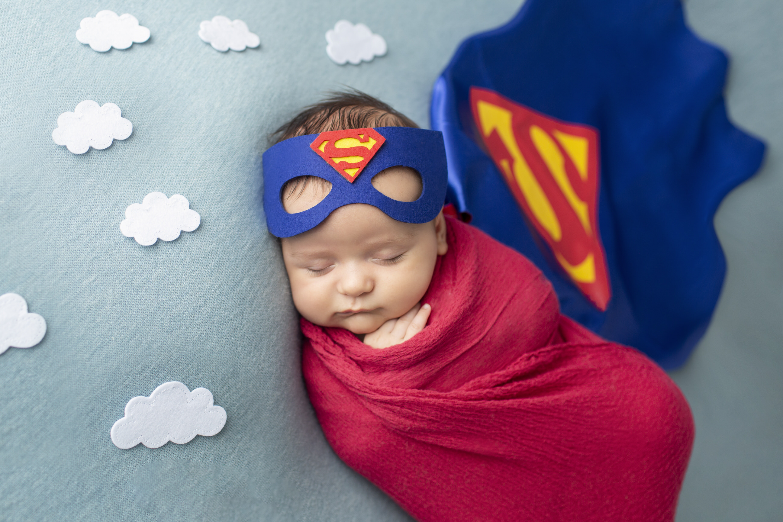 Superman Newborn Photos