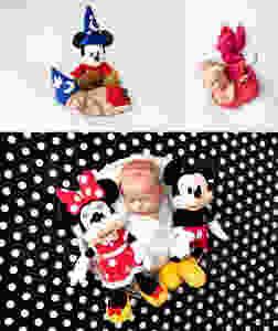 Disney Newborn Photography Mickey Mouse