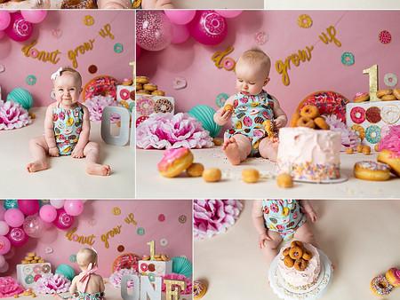 Donut Cake Smash Regina Photographer
