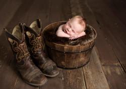 Newborn Cowboy Boot Photos Regina