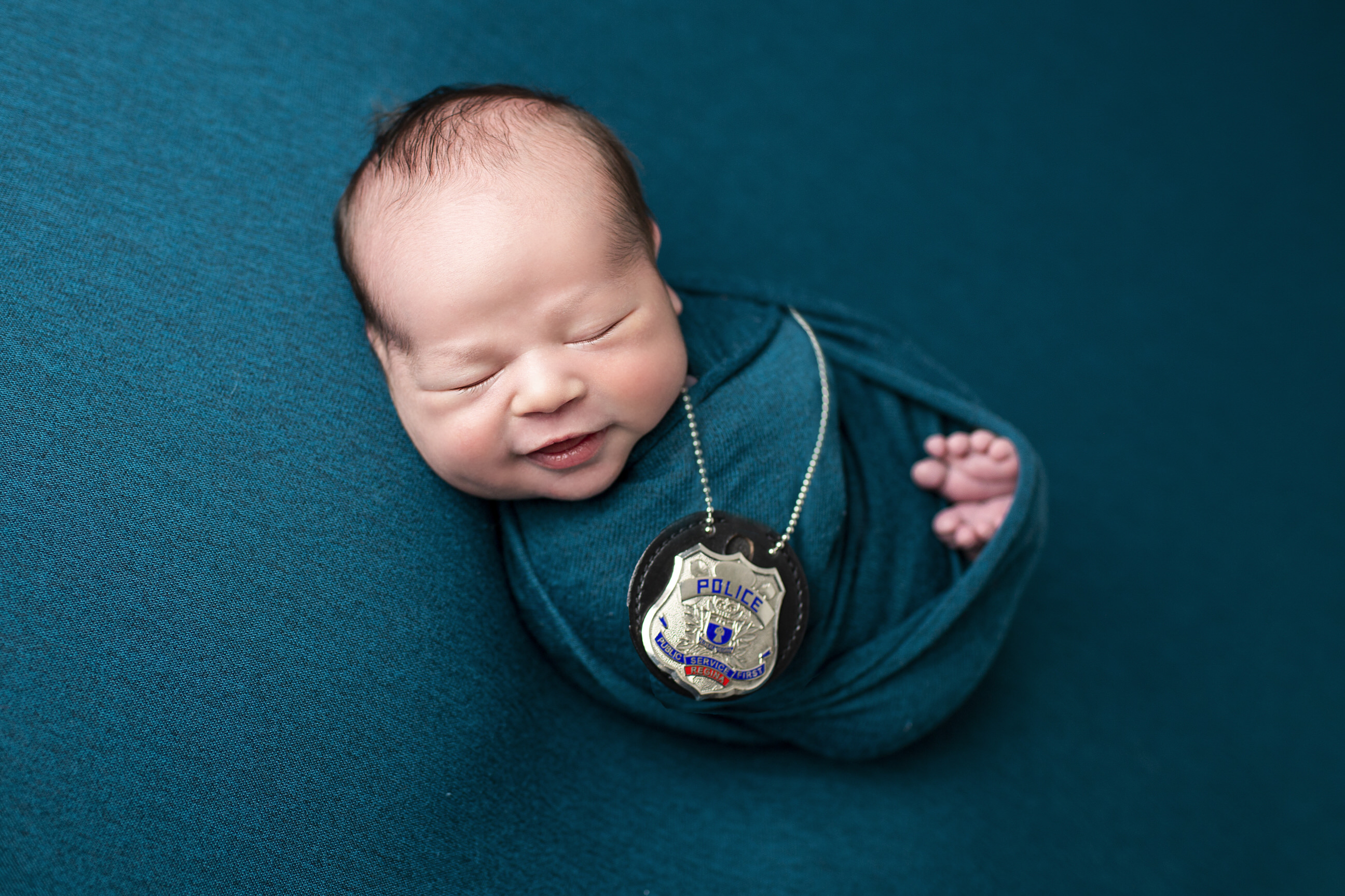 Newborn Photos regina police badge
