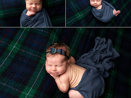 Scottish Tartan Blanket for miss Theo