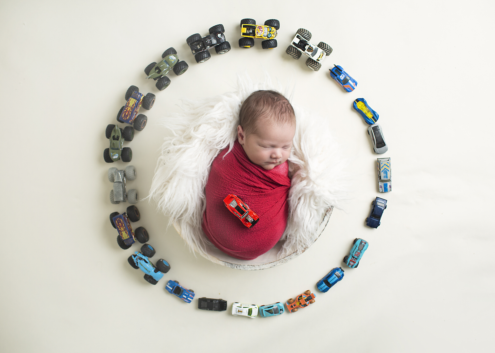 Toy Cars Newborn Photos