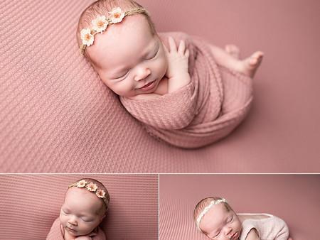 New mauve fabric for newborn sessions!