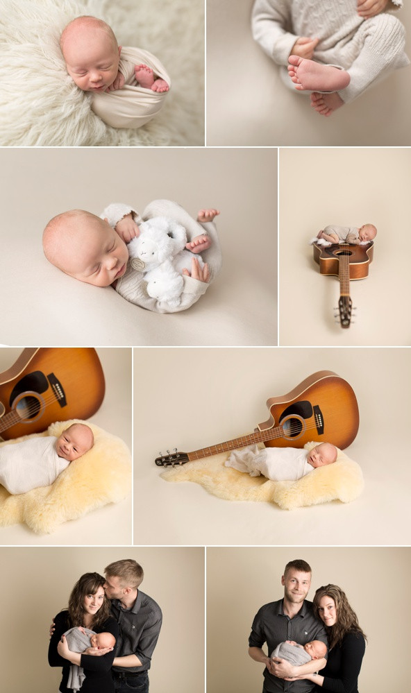 acoustic guitar newborn session