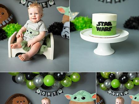 Joel's Star Wars Cake Smash
