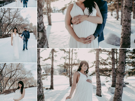 First wintery maternity session of 2019!