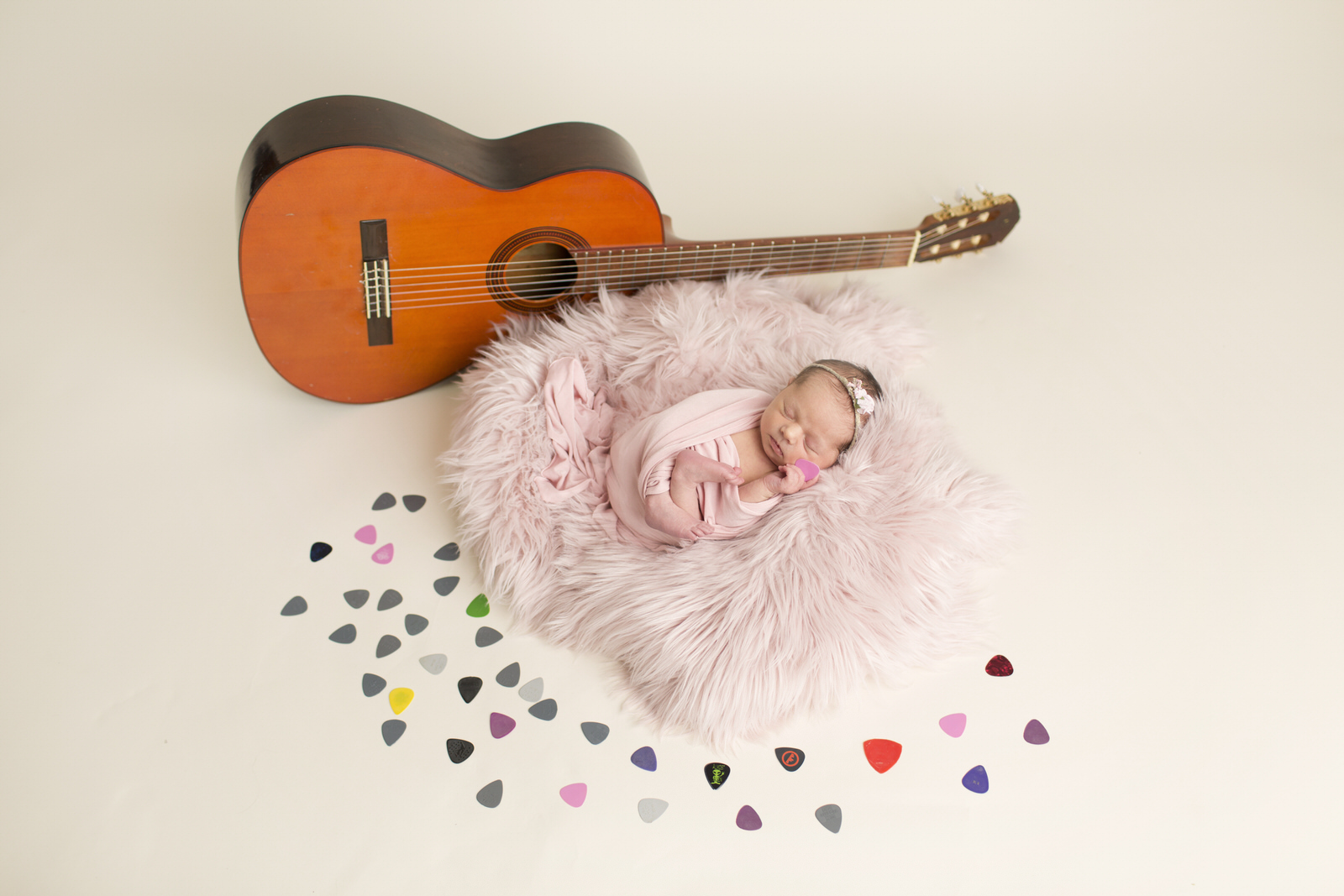 Newborn Photography Guitar