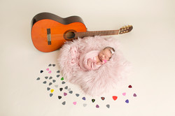 Newborn Photography Guitar