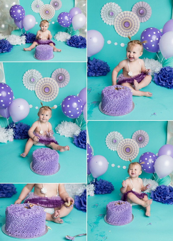Purple & Teal Cake Smash