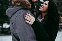 Winter Engagement Photos Regina