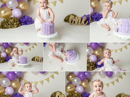 Purple & Gold Cake Smash