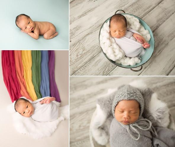 Rainbow baby boy newborn photos