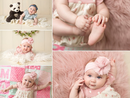 6 month old session!