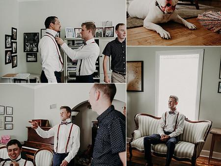 Guys getting ready - Regina Wedding Photography
