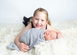 Newborn Photos Regina Sibling