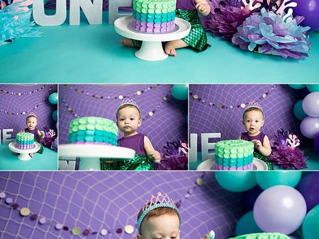 Miss Olivia's Under The Sea Cake Smash!