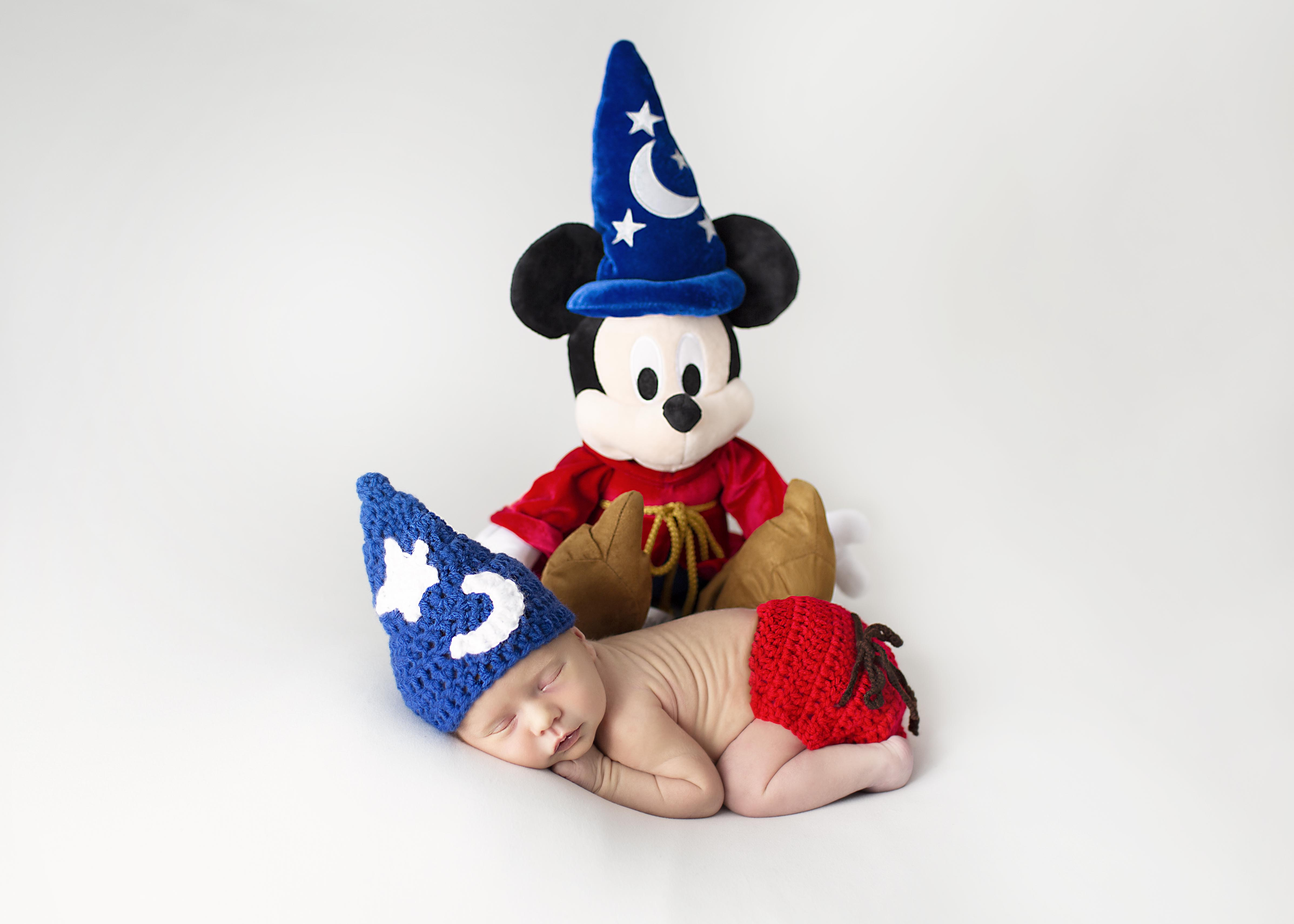 Disney Newborn Photography Mickey