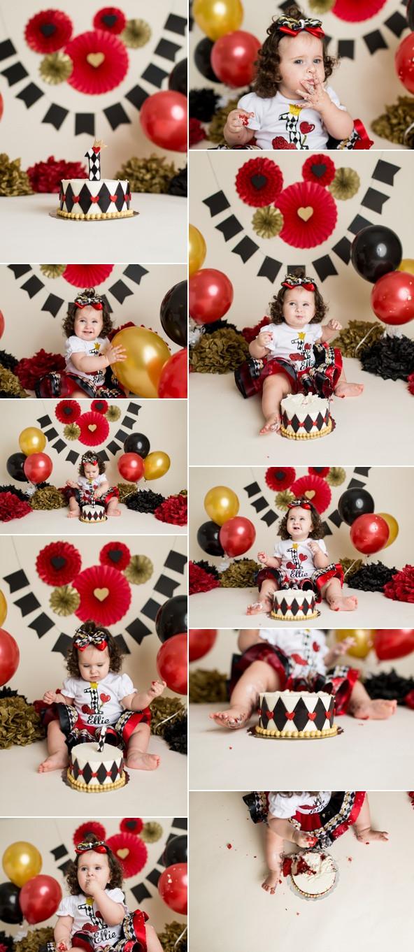 Queen of Hearts Cake Smash