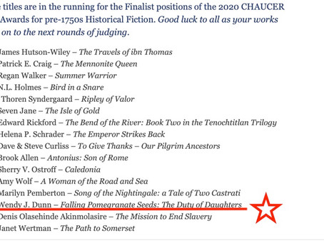 The Duty of Daughters: semi-finalist in the 2020 Chaucer Award!