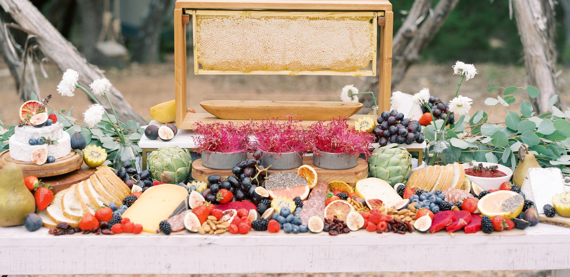 Grazing Table with Full frame of Comb Honey