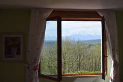 Mountain views from the window
