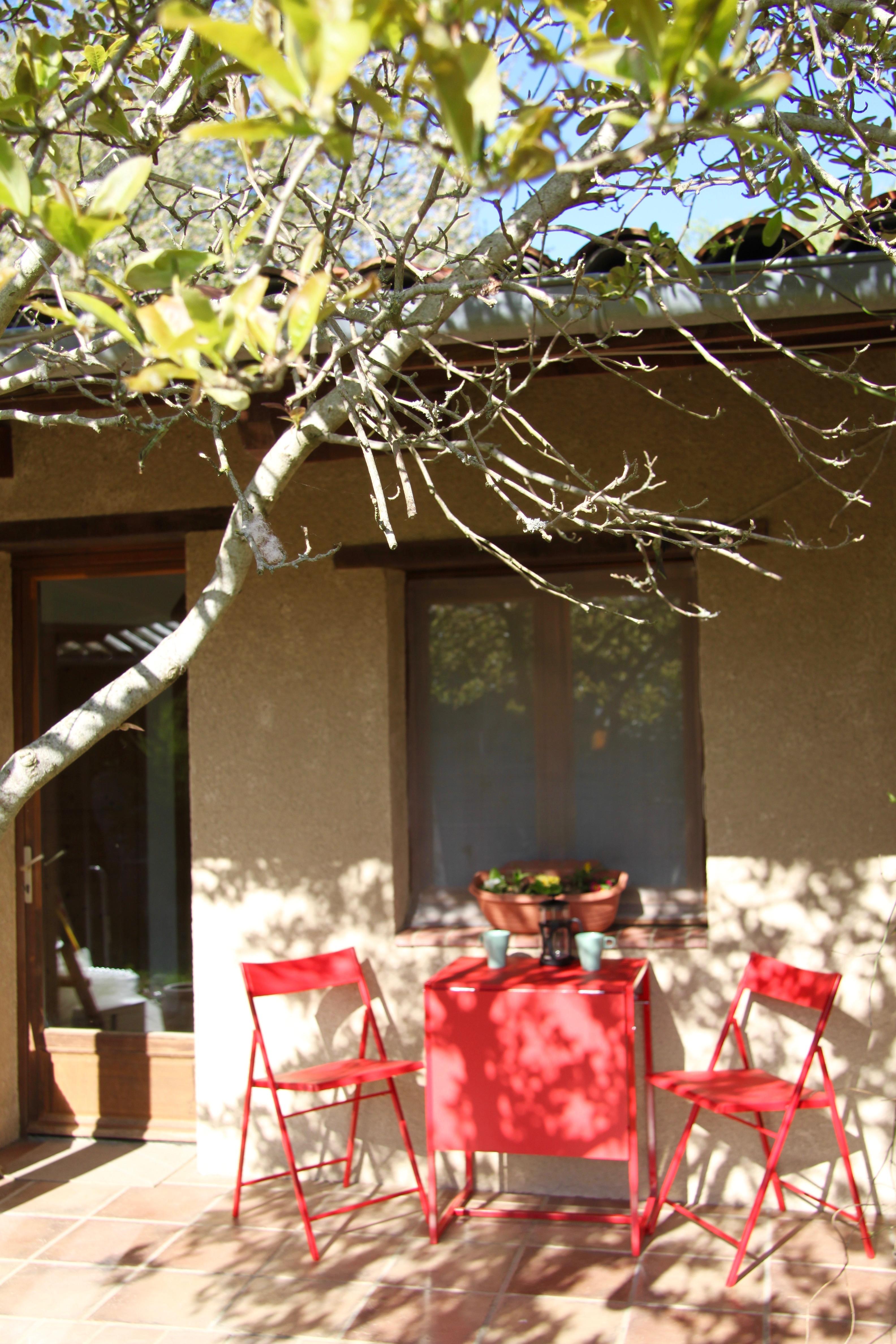 Garden apartment terrace