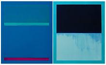 Cerulean paintingand aqua frames.jpg