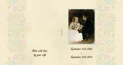 custom made anniversary photo book